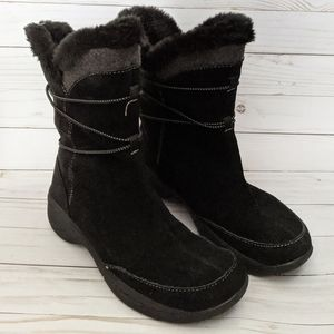 Croft & Barrow Suede Leather Black Winter Boots